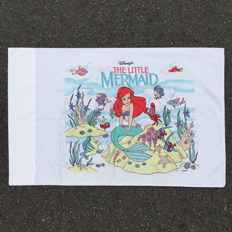THE LITTLE MERMAIDE Ariel Pillow Case/リトルマーメイド アリエル 枕カバー/160728-3