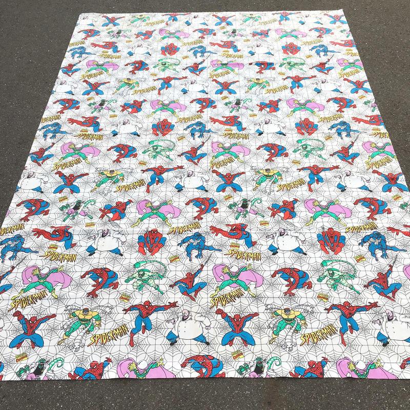 SPIDER-MAN Twin Flat Sheets/スパイダーマン ツインフラットシーツ/180131-14