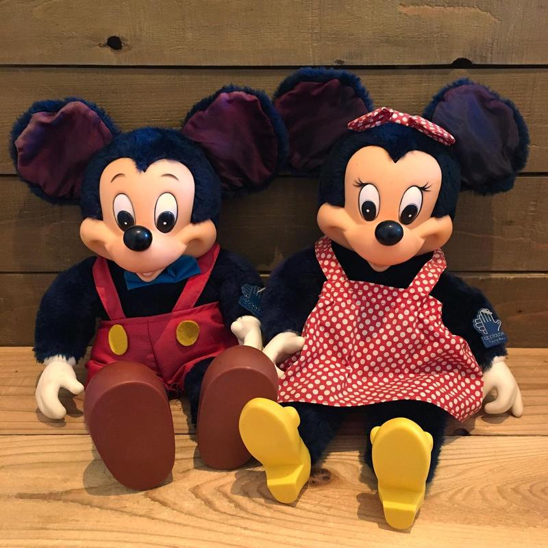 Disney Mickey & Minnie  Plush Doll Set/ディズニー ミッキー & ミニー ぬいぐるみセット/190401-1
