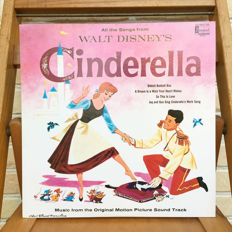 Disney Cinderella Record/ディズニー シンデレラ レコード/171110-1