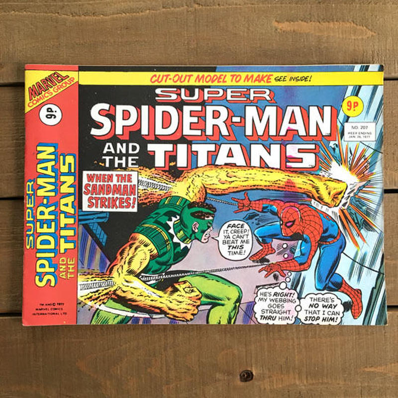 SPIDER-MAN Super Spider-man and the Titans Comics 1977.Jan.207/スパイダーマン コミック 1977年1月207号/190425-5