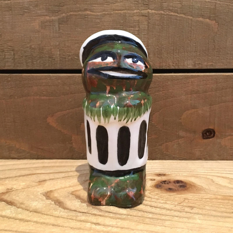 SESAME STREET Bootleg Oscar Ceramic Figurine/セサミストリート ブートレグ オスカー セラミックフィギュアリン/190318-5