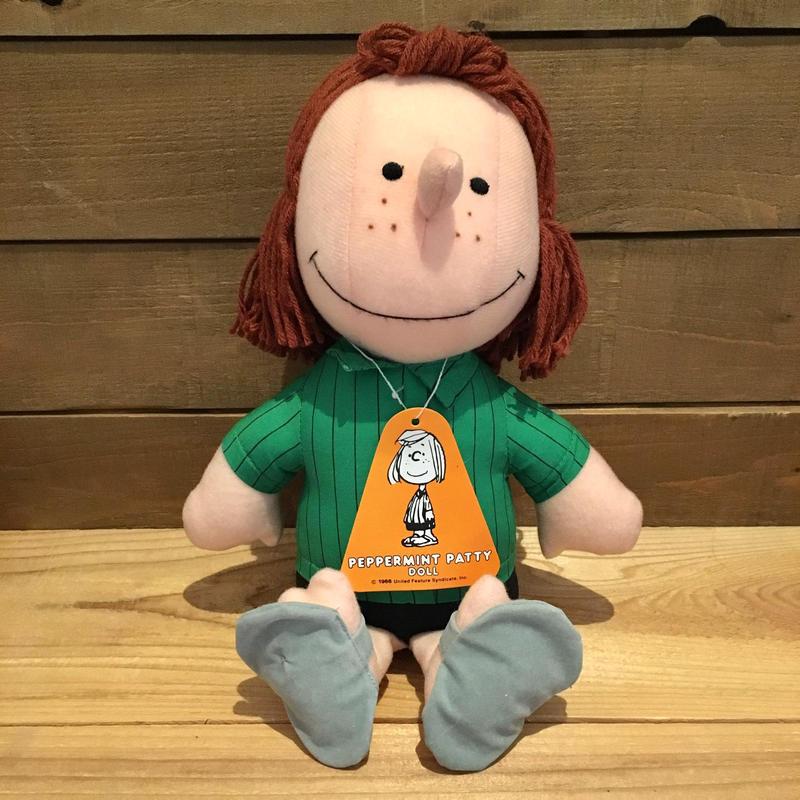 PEANUTS Peppermint Patty Plush Doll/ピーナッツ ペパーミント・パティ ぬいぐるみ/190321-10