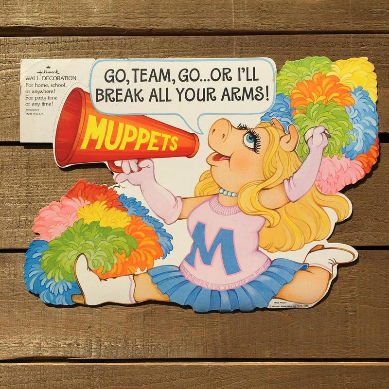 THE MUPPETS Miss Piggy Paper Wall Deco/マペッツ ミス・ピギー ペーパーウォールデコレーション/190120-8