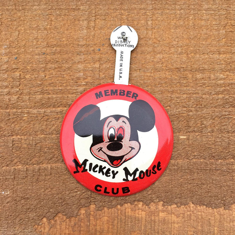 Disney Mickey Mouse Bottun/ディズニー ミッキーマウスクラブ バッジ/190512-4