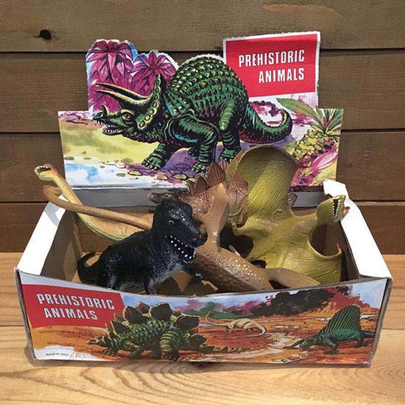 Dinosaur Rubber Toy Set/恐竜 ラバートイ セット/190417-13