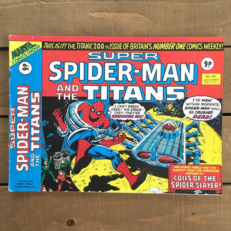 SPIDER-MAN Super Spider-man and the Titans Comics 1976.Dec.200/スパイダーマン コミック 1976年12月200号/190425-2