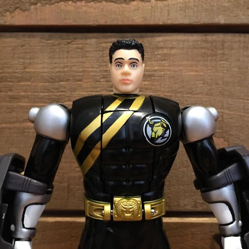 POWER RANGERS Black Spin-Morphin Power Ranger Figure/パワーレンジャー  スピンモーフィン・ブラックレンジャー フィギュア/190506-7