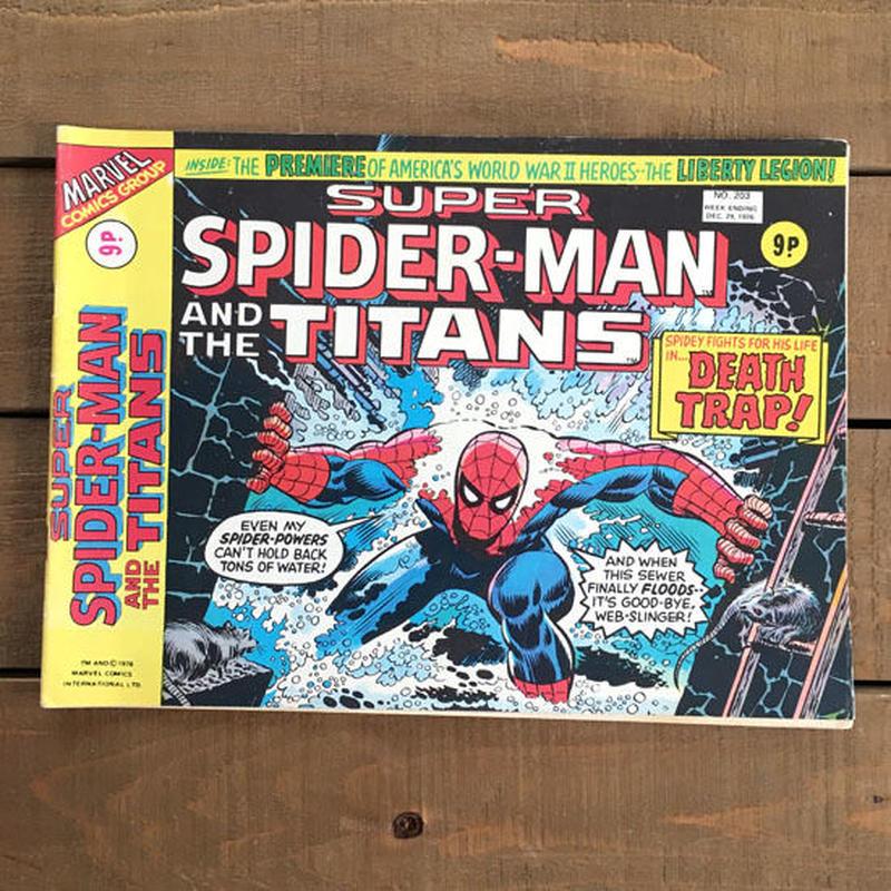 SPIDER-MAN Super Spider-man and the Titans Comics 1976.Dec.203/スパイダーマン コミック 1976年12月203号/190425-4