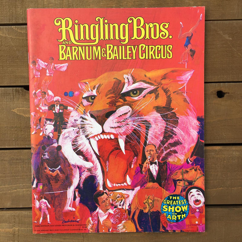 Ringling Bros. and Barnum & Bailey Circus Program 104th/バーナムのサーカス プログラム 104回目版/180720-14