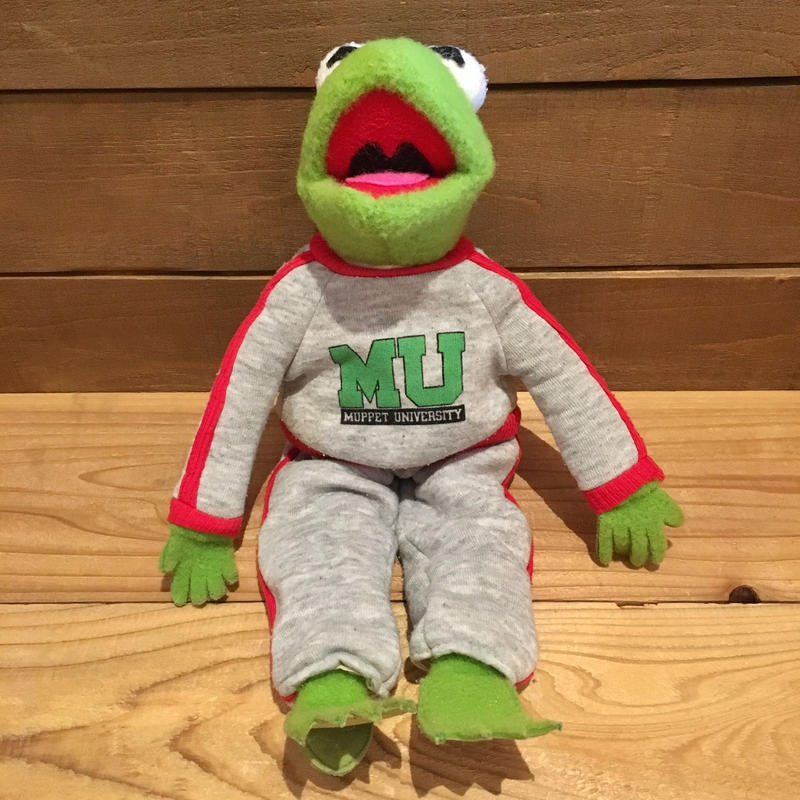 THE MUPPETS MU Kermit Plush Doll/マペッツ マペッツユニバーシティ カーミット ぬいぐるみ/190412-4