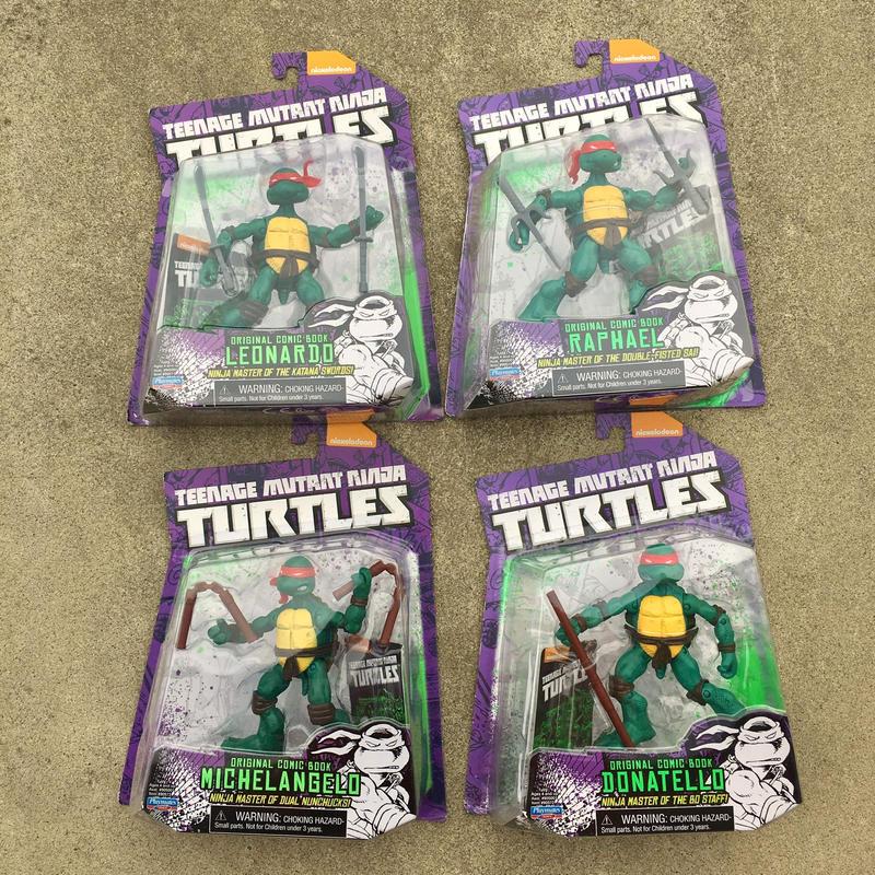 TURTLES Original Comic Book Turtles 4Pcs Figure Set/タートルズ オリジナルコミック版タートルズ フィギュア4体セット/190220-5