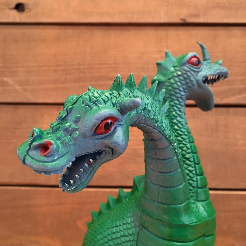 Green Two Head Dragon Figure/緑の双頭のドラゴン フィギュア/190121-7