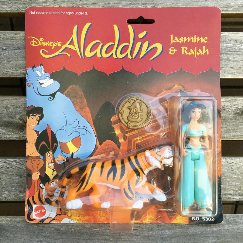 Aladdin Jasmine & Rajah Figure/アラジン ジャスミン & ラジャー フィギュア/180419-7