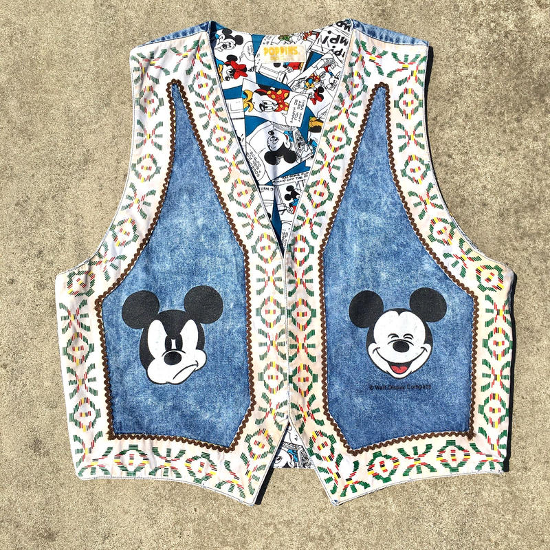 Disney Mickey Mouse Vest/ディズニー ミッキー・マウス ベスト/190527-11