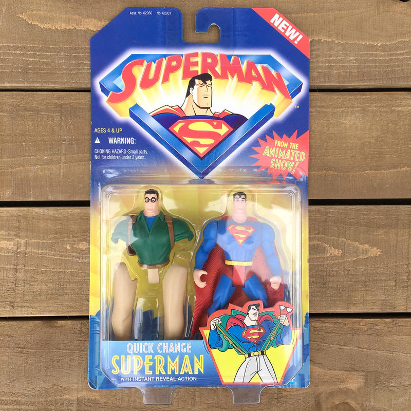 SUPERMAN Quick Change Superman Green Shirts/スーパーマン クイックチェンジスーパーマン グリーンシャツ フィギュア/170418-7