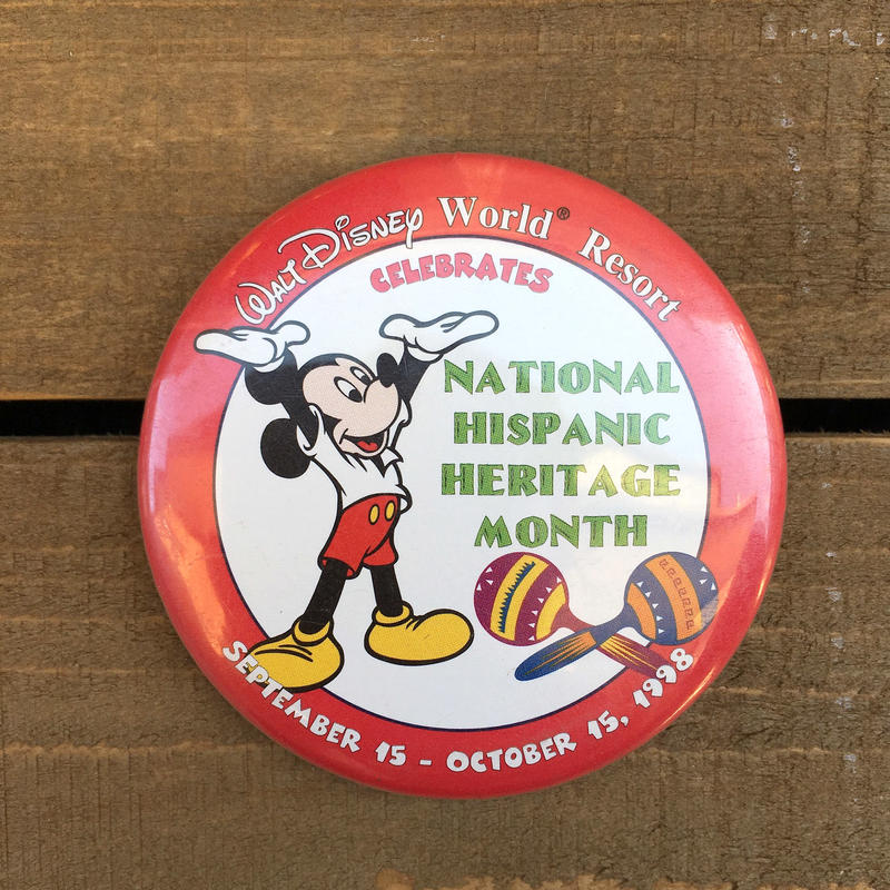 Disney 1998 NHHM Button/ディズニー 1998年 NHHM 缶バッジ/170311-15