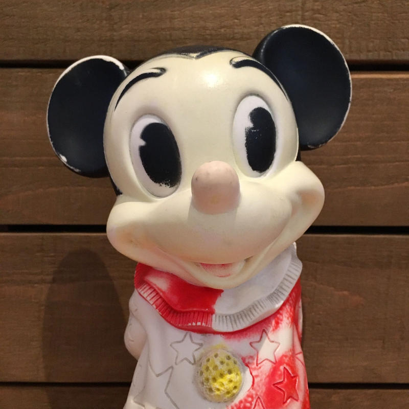 Disney Mickey Mouse Rubber Doll/ディズニー ミッキー・マウス ラバードール/190606-25