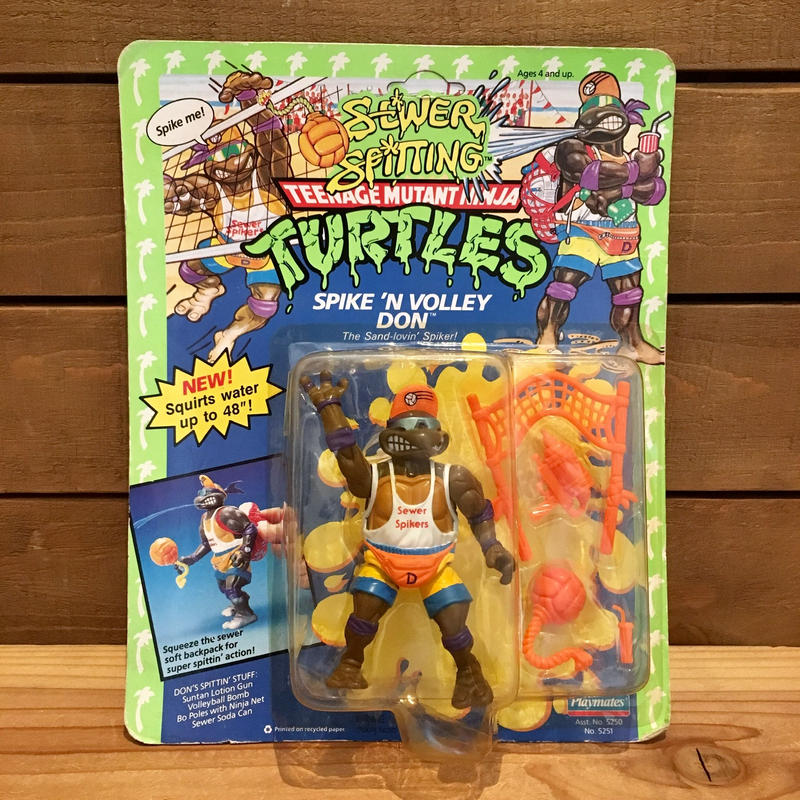 TURTLES Spike 'n Volley Don Figure/タートルズ スパイクボレー・ドナテロ フィギュア/190622-1
