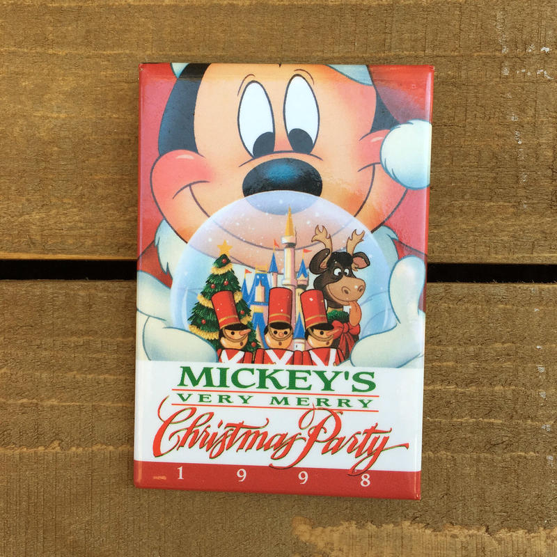 Disney 1998 Christmas Party Button/ディズニー 1998年 クリスマスパーティー 缶バッジ/170311-8