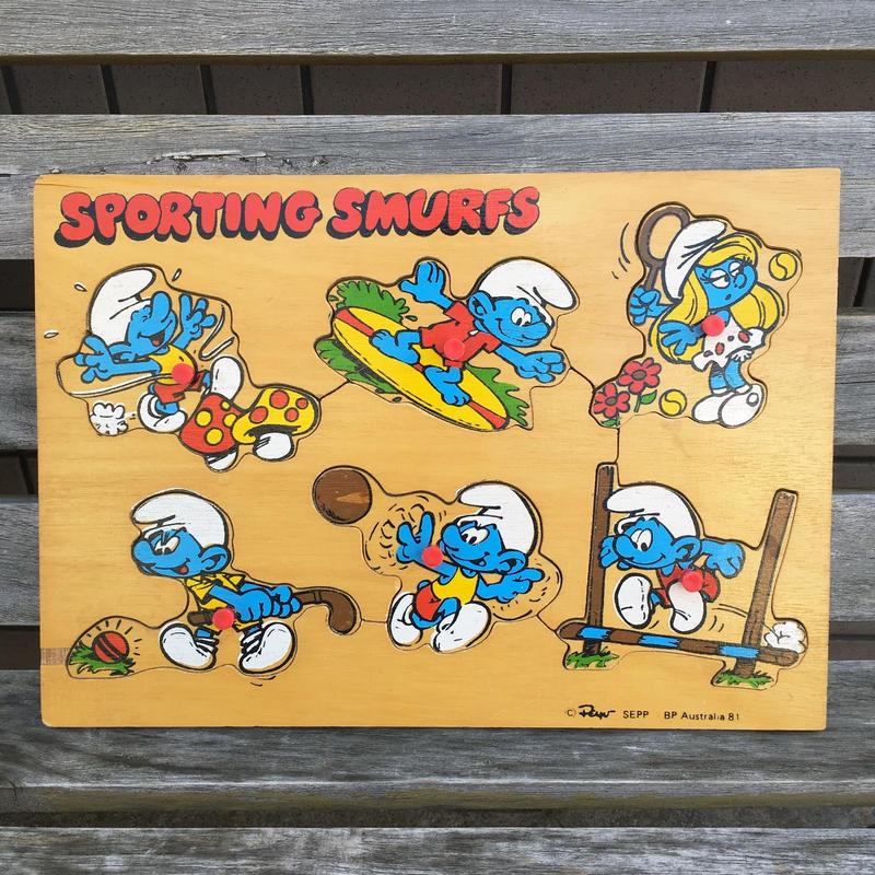 SMURFS Wood Puzzle/スマーフ ウッドパズル/180923-5