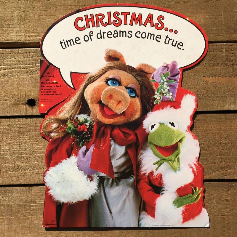 THE MUPPETS Miss Piggy & Kermit Paper Wall Deco/マペッツ ミス・ピギー & カーミット ペーパーウォールデコレーション/190120-7