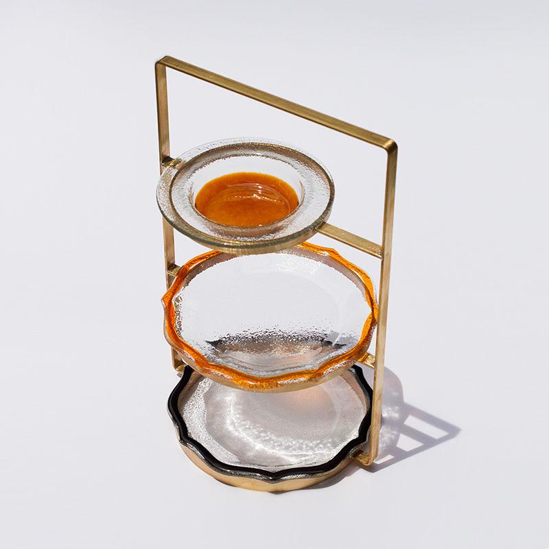 アフタヌーンティースタンド栗橙黒