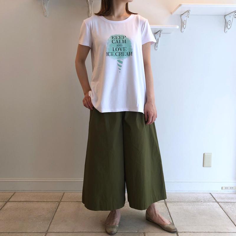 レーヨンベア天竺/ICEプリント*Tシャツ (91UTS010)