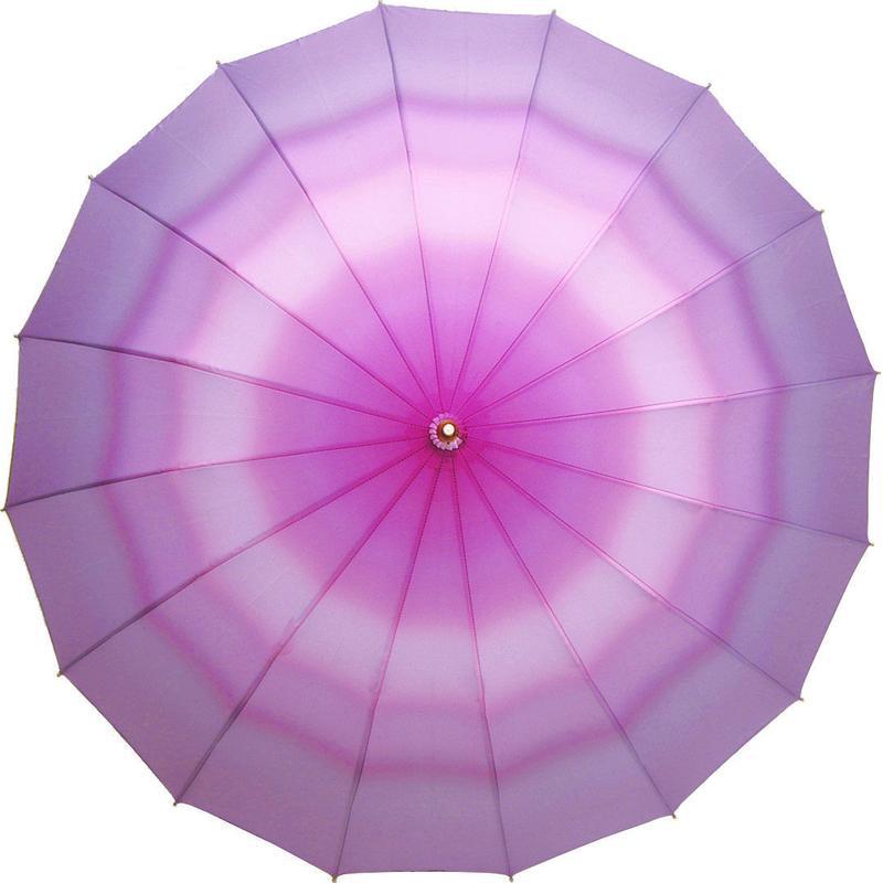 ベストセラー 傘専門店  通販  東京  雨傘  ワンタッチ  ジャンプ  グラスファイバー  サビない  旅傘  【16本骨  ぼかし  内ピンク】