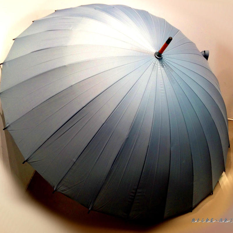 大判65㎝ 傘専門店 通販 東京 メンズ  雨傘  サビにくい 旅傘【蛇の目 24本骨 Gray 】