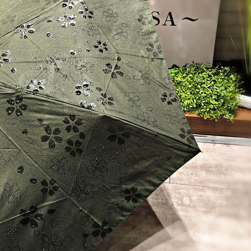 【折 50cm 浮き出シリーズ】傘専門店 通販 東京 折りたたみ傘 UV 晴雨兼用 レディース メンズ 旅傘【Flat 深緑】