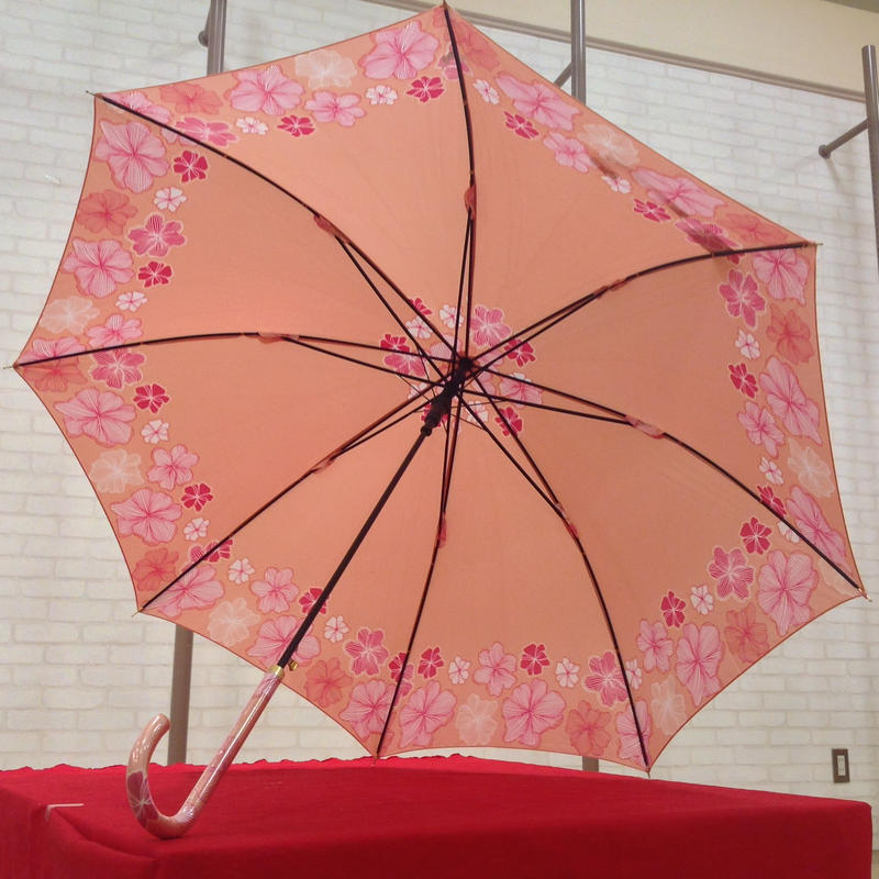 【製造終了】傘専門店  通販  東京  雨傘  ワンタッチ  ジャンプ  サビにくい  黒骨  旅傘  【サテン生地  モダン】