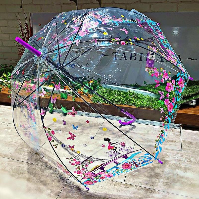 【バードゲージ 鳥かごシリーズ】傘専門店 通販 東京 手開き 雨傘 ビニ傘 レディース メンズ 旅傘【透明 Antique】