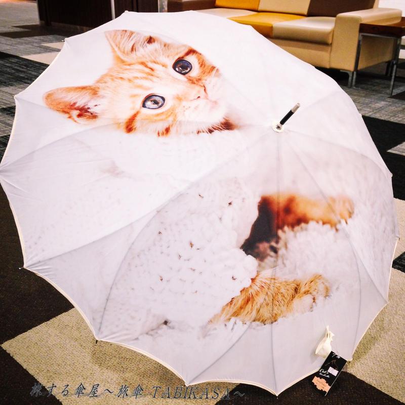 サクラ骨 傘専門店  通販  東京  雨傘  ワンタッチ  ジャンプ  グラスファイバー  サビない  旅傘  【猫と温もり】