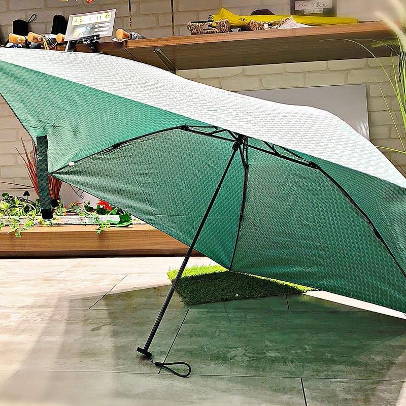 【折 超軽量シリーズ】98g 55㎝ 傘専門店 通販 東京 折り畳み 旅傘【ドビー Green】