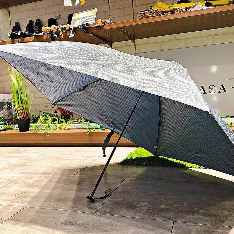 【折 超軽量シリーズ】98g 55㎝ 傘専門店 通販 東京 折り畳み 旅傘【ドビー Gray】
