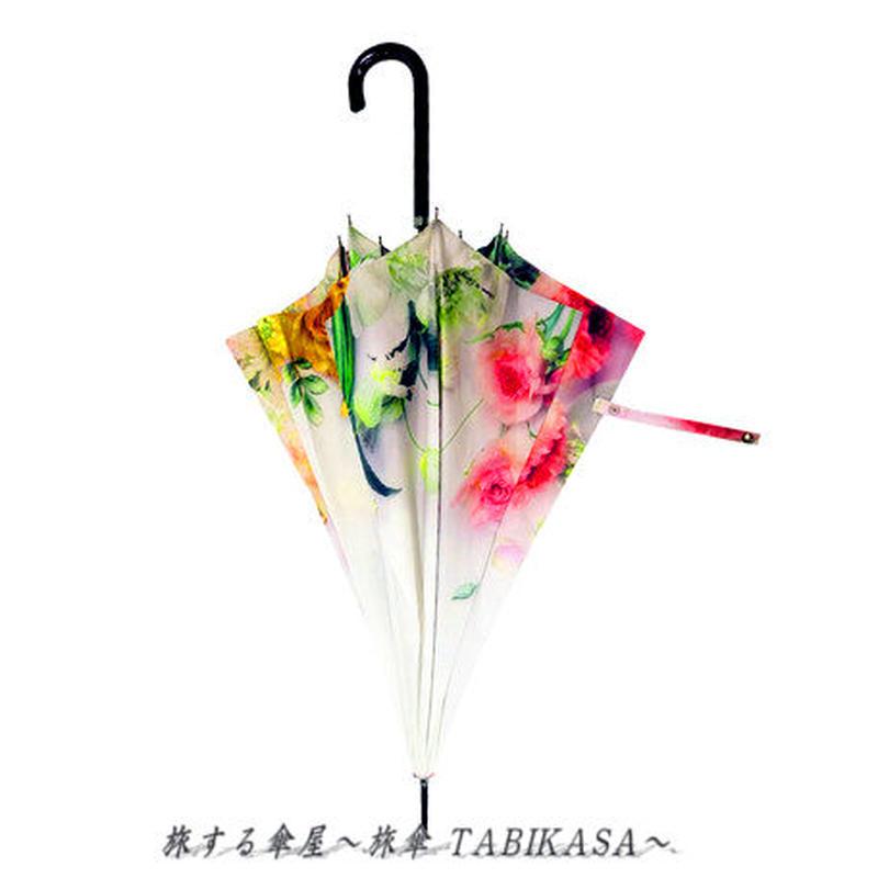 おしゃれ傘  傘専門店 通販 東京 レディース グラスファイバー 雨傘 ワンタッチ ジャンプ サビない 旅傘【長傘 58㎝ Botanical