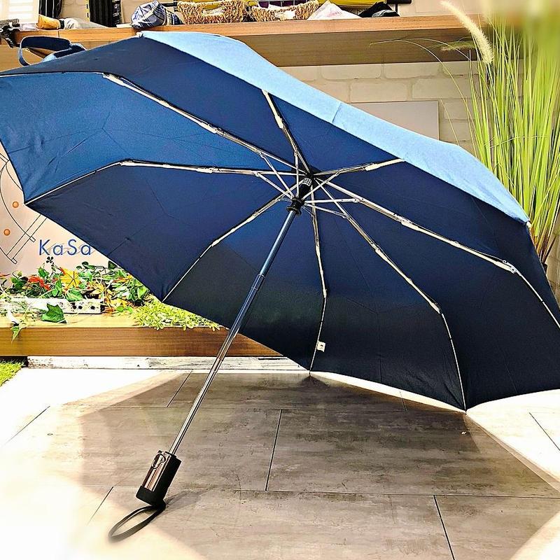 【折 メンズ 自動開閉シリーズ】55㎝ 傘専門店 通販 東京 折りたたみ 旅傘【無地 Navy】