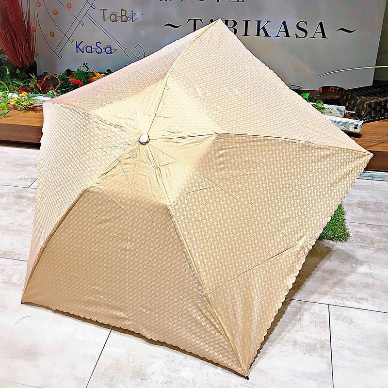 【折 超軽量シリーズ】92g 50㎝ 傘専門店 通販 東京 折り畳み 旅傘【ドビー Beige】