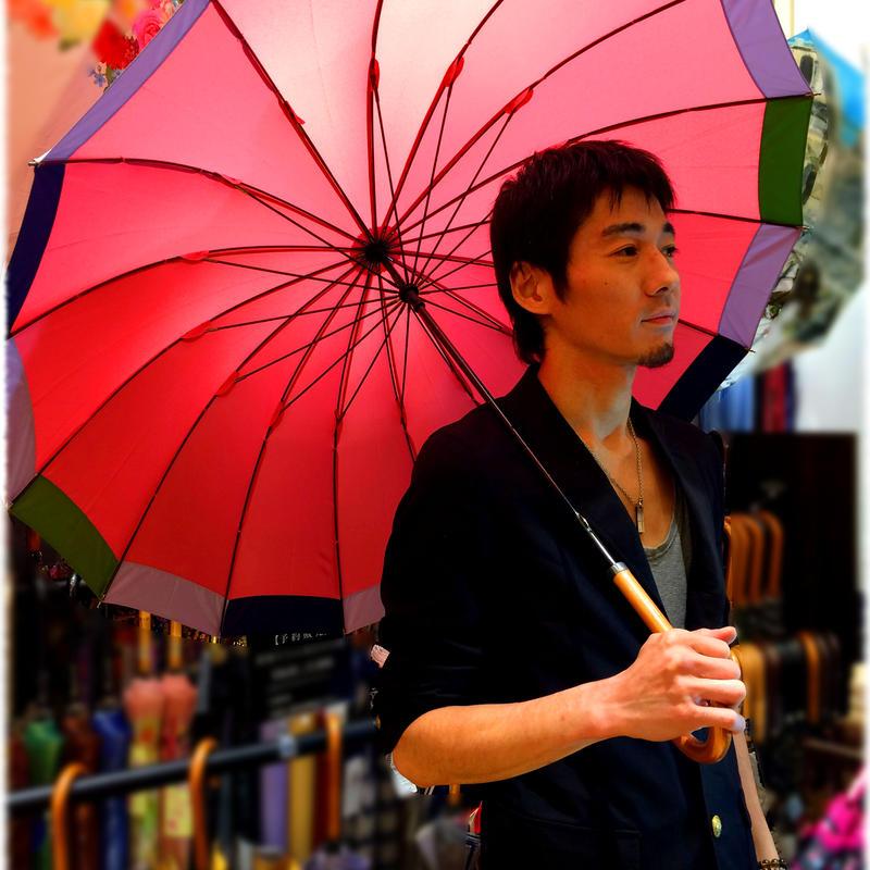 36本限定生産 傘専門店 通販 東京 雨傘 オリジナル メンズ レディース グラスファイバー サビない 超軽量 旅傘【2018年6月お届けサーモンPink】