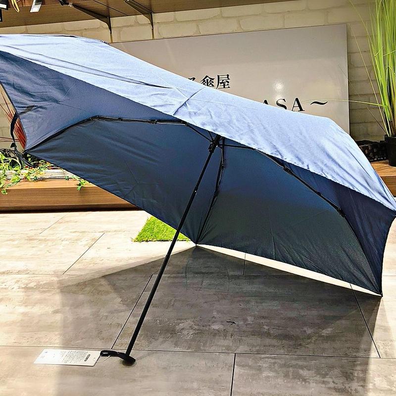 【折 超軽量シリーズ】86g 50㎝ 傘専門店 通販 東京 折り畳み 旅傘【Navy】