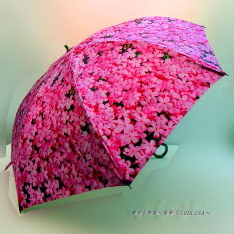 【折&長 】 傘専門店 通販 東京 雨傘 日傘 グラスファイバー 長傘  折り畳み 旅傘【MF 桜  ピンク】