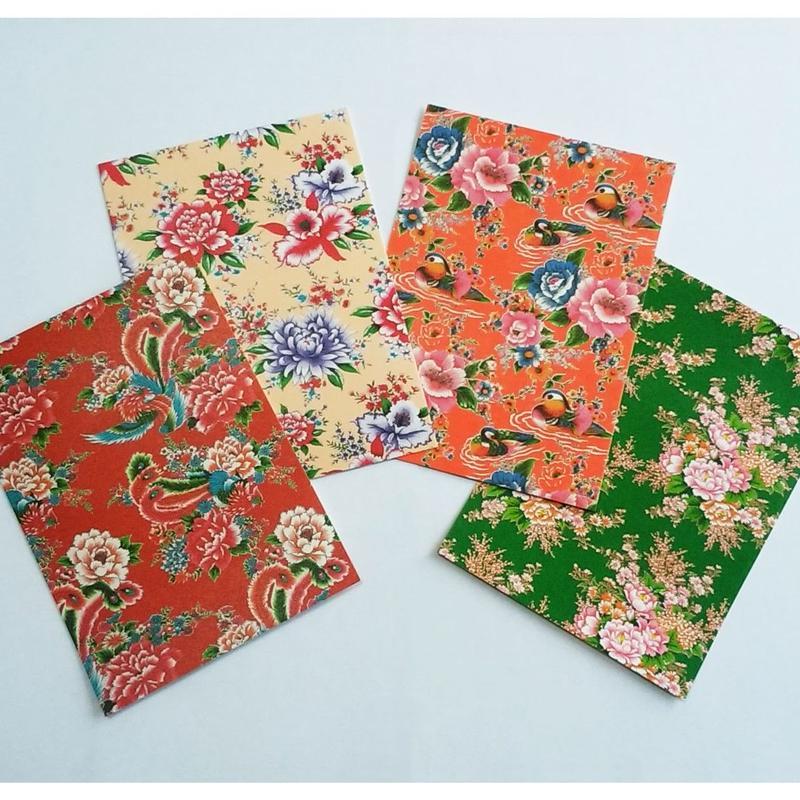 台湾ポストカード4枚セット「台湾花布」カラー2