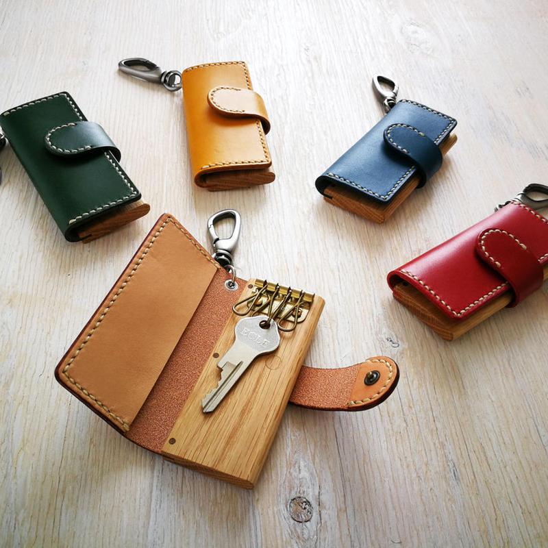 keycase -木と革のキーケース- オーク5色