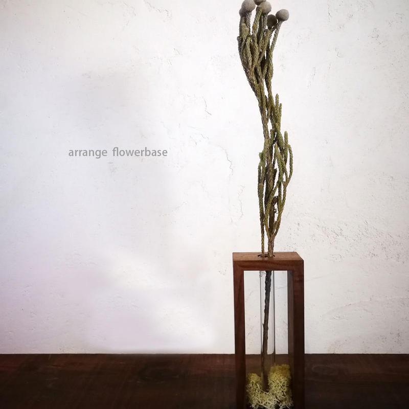 arrange flowervase - 木のショーケース型一輪挿し -