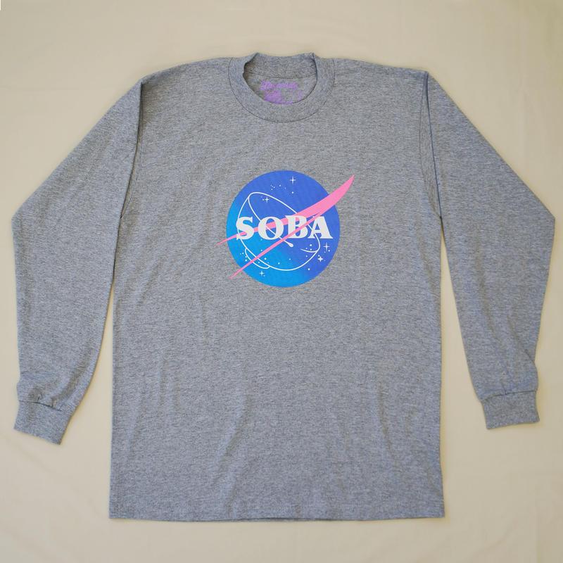 LONG SLEEVE TEE 6.5oz  SOBA(Grey / Grade)