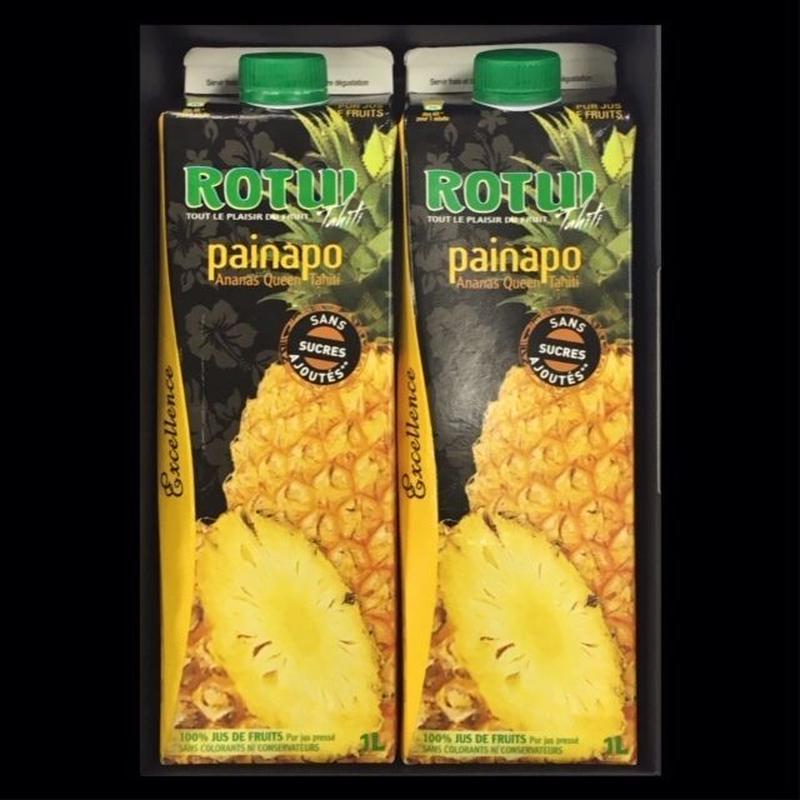 灼熱果汁100%「ROTUI」パイナップルジュース1000mlBOX付2本セット