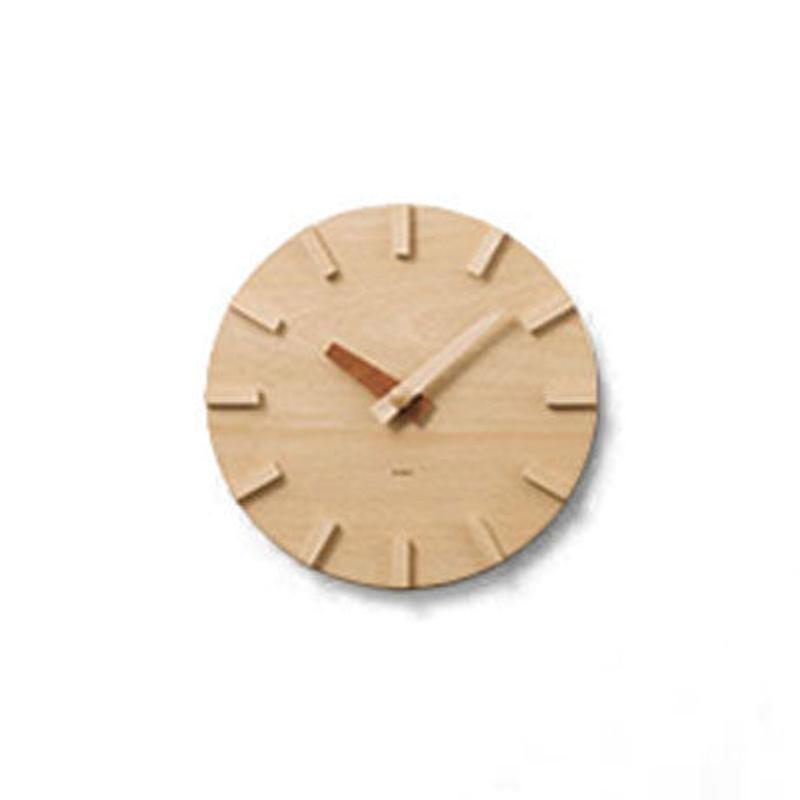 [kime]壁に掛ける木の時計(φ200)
