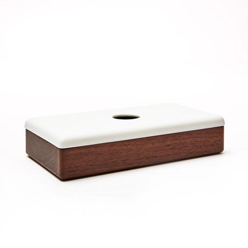 [kime]磁器×木のティッシュケース
