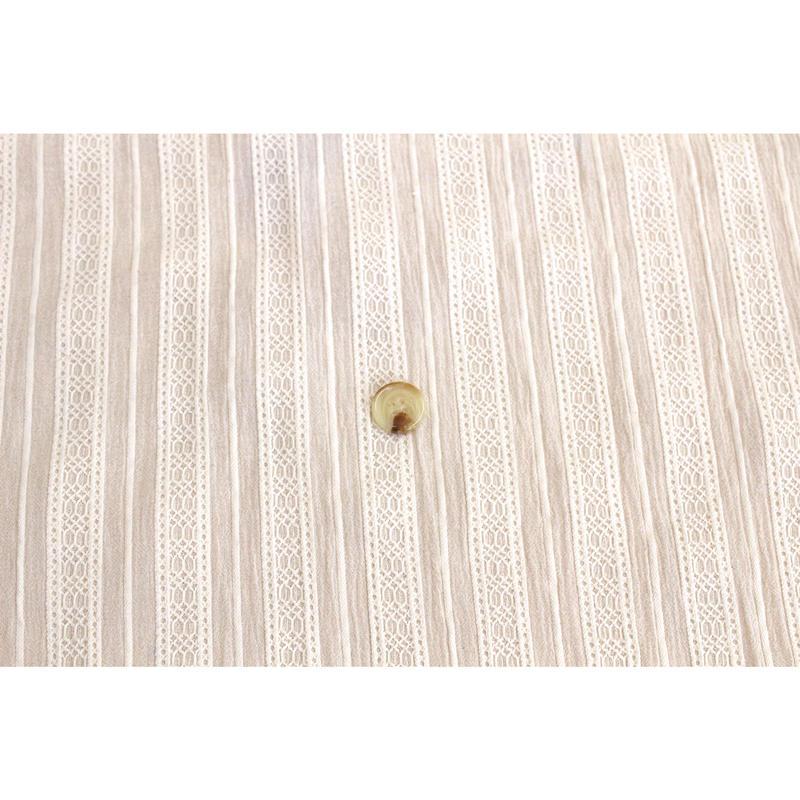 【立体感がおしゃれ】 fanageコットン100%  からみ織り生地/10cm